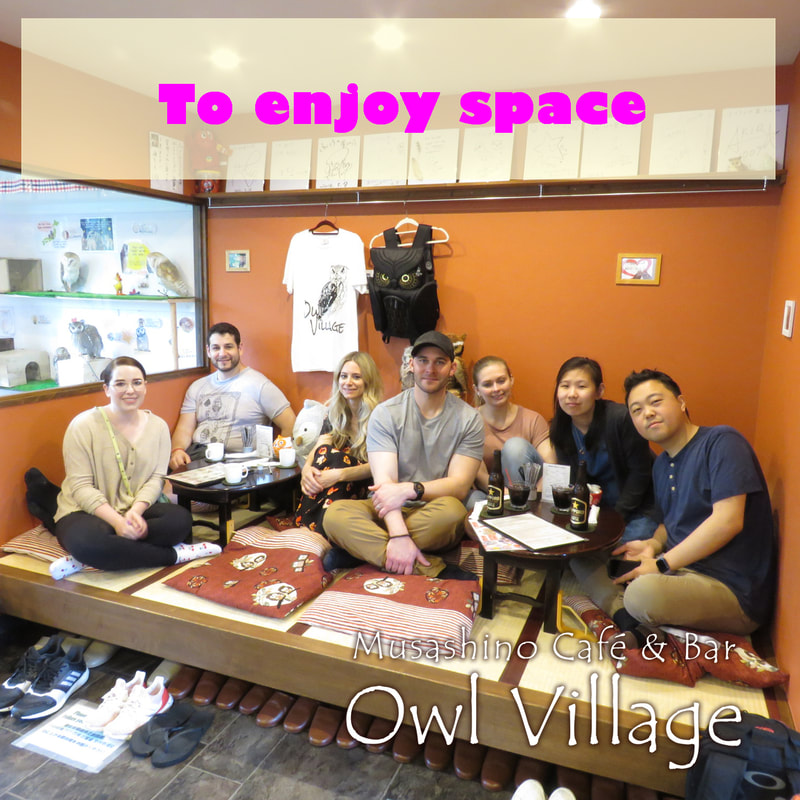 owl cafe harajuku about us to enjoy space